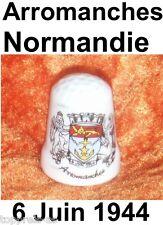 Fingerhut Porzellan selten thimble dé Normandie Weltkrieg 1944 Arromanches Dedal