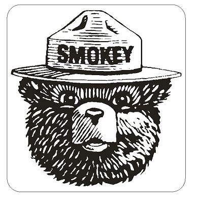 Forest Service Smokey The Bear Sticker M146 YOU CHOOSE SIZE