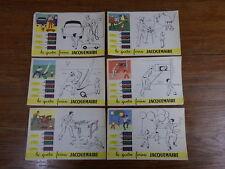 6 Buvards à colorier LES QUATRE FARINES JACQUEMAIRE BLEDINE 1955/1960