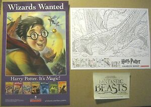 Image Is Loading 3 NEW 2016 Harry Potter Mini Poster Lot