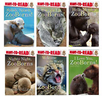 Ready To Read Zooborns Babies 6 Book Set Welcome To World,i Love You Zoo Born ++