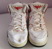 VTG Mens NIKE FLIGHT White/Red Trainers Size 8.5