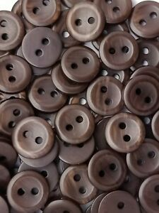 "MATTE FINISH 1//2/"" BROWN VARIEGATED MENSWEAR BUTTON 1 DOZEN SIZE 20L"