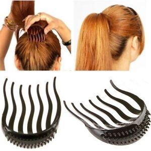 Neuf-Volume-Insere-pince-cheveux-de-cheval-bouffant-styles-peigne-pour-outil