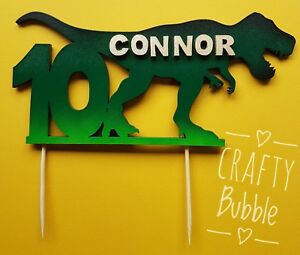 TREX-DINOSAUR-PERSONALISED-ANY-AGE-NAME-COLOUR-WOODEN-BIRTHDAY-CAKE-TOPPER