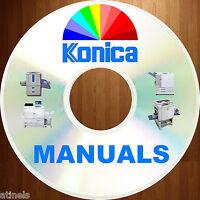KONICA Copier Printer Fax Multi MFC Service & Parts Manuals HUGE SET DVD