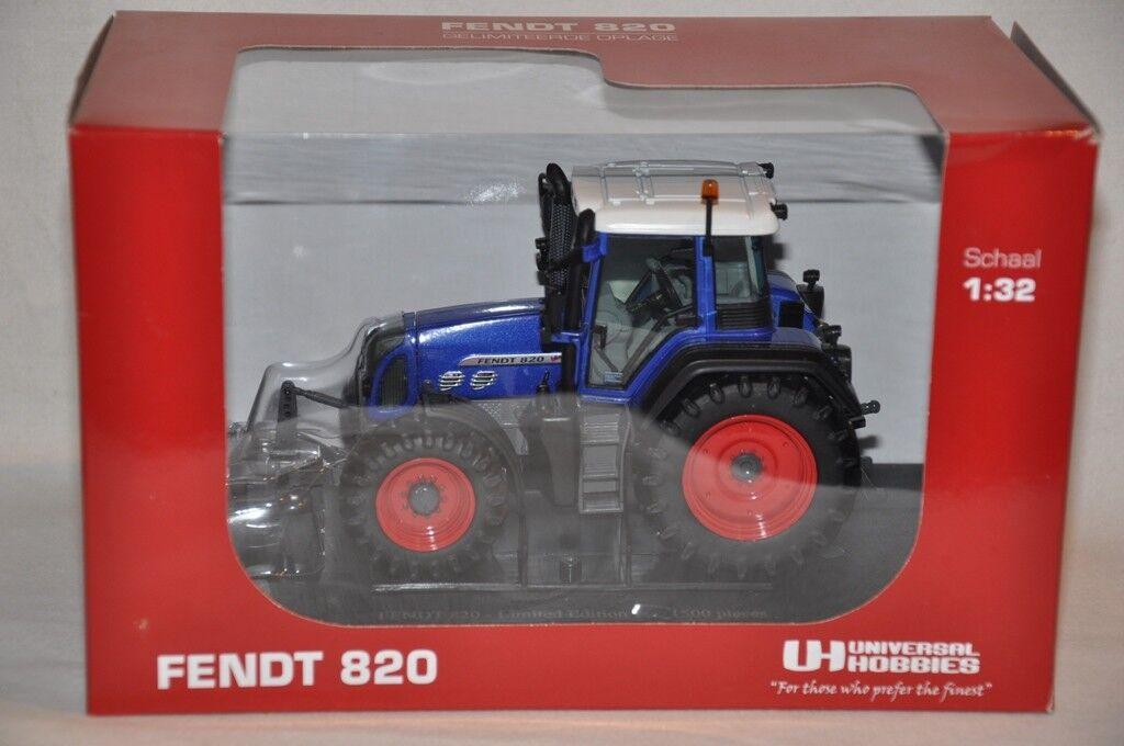Universal Hobbies 4034 Bleu FENDT FENDT FENDT 820 tracteur échelle 1:32 édition limitée | Doux Et Léger  cd2ba8