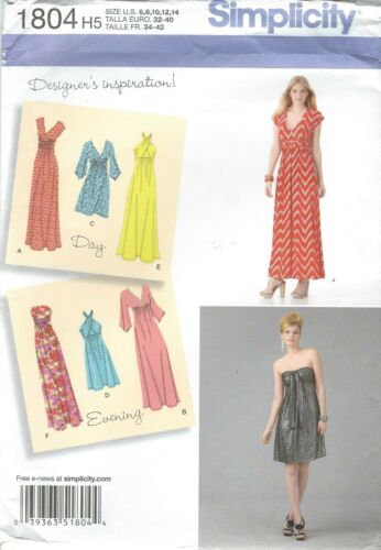 Each in Two Lengths   Sewing pattern Simplicity 1804 Misses/' Knit Dresses