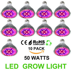 50w E26 Led Grow Light Bulb Full Spectrum Indoor Plants