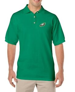 VINTAGE-Philadelphia-Eagles-EMBROIDERED-GOLF-Green-POLO-SHIRT-Small-and-Large