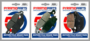 Front & Rear Brake Pads (3 Pairs) for Suzuki DL 650 V-Strom 07-13