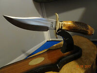 Colt Ct-805 11 1/8 Burnt Stag Handle Fixed Blade Knife 440a Stainless Steel