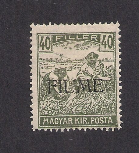Hungary stamp 1918 Fiume overprint 40f mint mounted