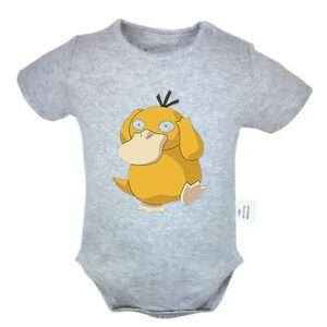 8bd6b68d Image is loading Cartoon-Pokemon-Psyduck -Newborn-Jumpsuit-Baby-Romper-Bodysuit-