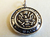 Silver Tone Metal Collectible Us Army Military Charm Or Pendant