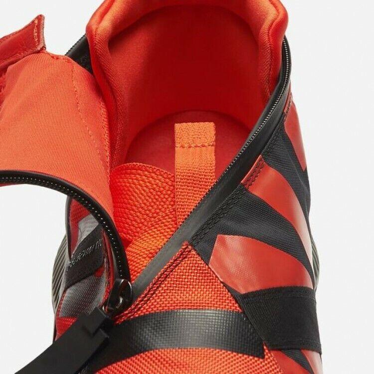 Nike MEN'S NSW Gaiter Boot Team orange Black Black Black Tumbled Grey SIZE 7 BRAND NEW 4e0e4f