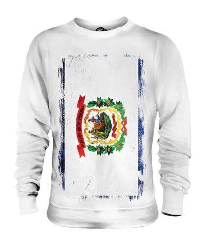 West Virginia State Grunge Flag Unisex Pullover Top Westen Hemd Geschenk