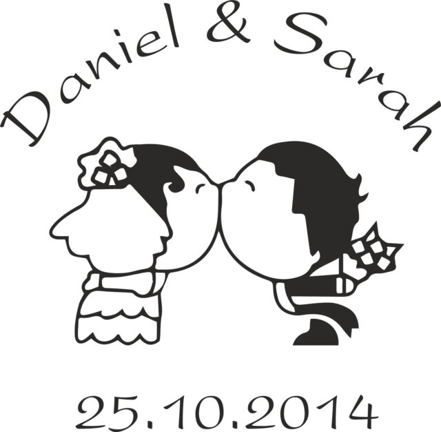 PERSONALISED WEDDING/ENGAGEMENT/PARTY etc RUBBER STAMP (11618) NAMES & DATE