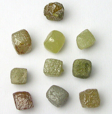 Carats Uncut Natural Rough Cubic Cube Diamonds .10 10