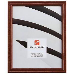 "Craig Frames .75"" Traditional Walnut Brown Wood Picture Frames & Poster Frames"