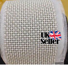 5mm-Rhinestone-Diamond-amp-Pearl-Ribbon-1-Yard-Silver-Bridal-Party-Trim-Work-UK