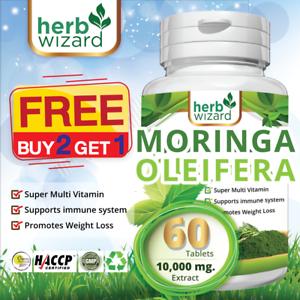 60-Moringa-Oleifera-organico-Leaf-Extract-10-000mg-servir-comprimidos-de-100-Puro