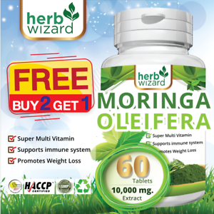 60-Moringa-Oleifera-Organic-Leaf-Extract-10-000mg-Serving-100-Pure-Tablets