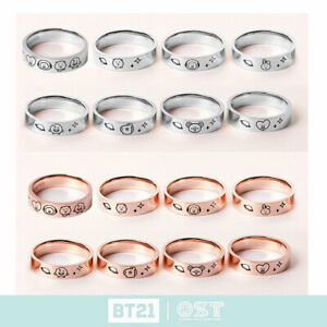BTS BT21 Official Authentic Goods Silver Ring by OST 7Characters + Tracking Num