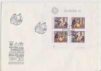 Portugal - 1979 FDC mit Block 27 - EUROPA (CEPT) M€ 55,00 - bitte ansehen !!!