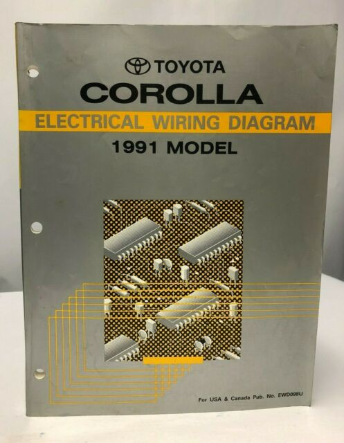 1991 Toyota Corolla Electrical Wiring Diagram Oem