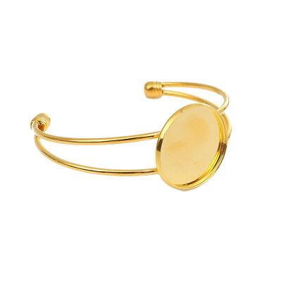5 Bracelets Support Cabochon 25mm Neuf Cabochon en verre 25mm