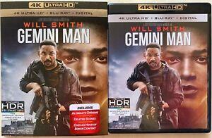 GEMINI-MAN-4K-ULTRA-HD-BLU-RAY-2-DISC-SET-SLIPCOVER-SLEEVE-WILL-SMITH-FREESHIP