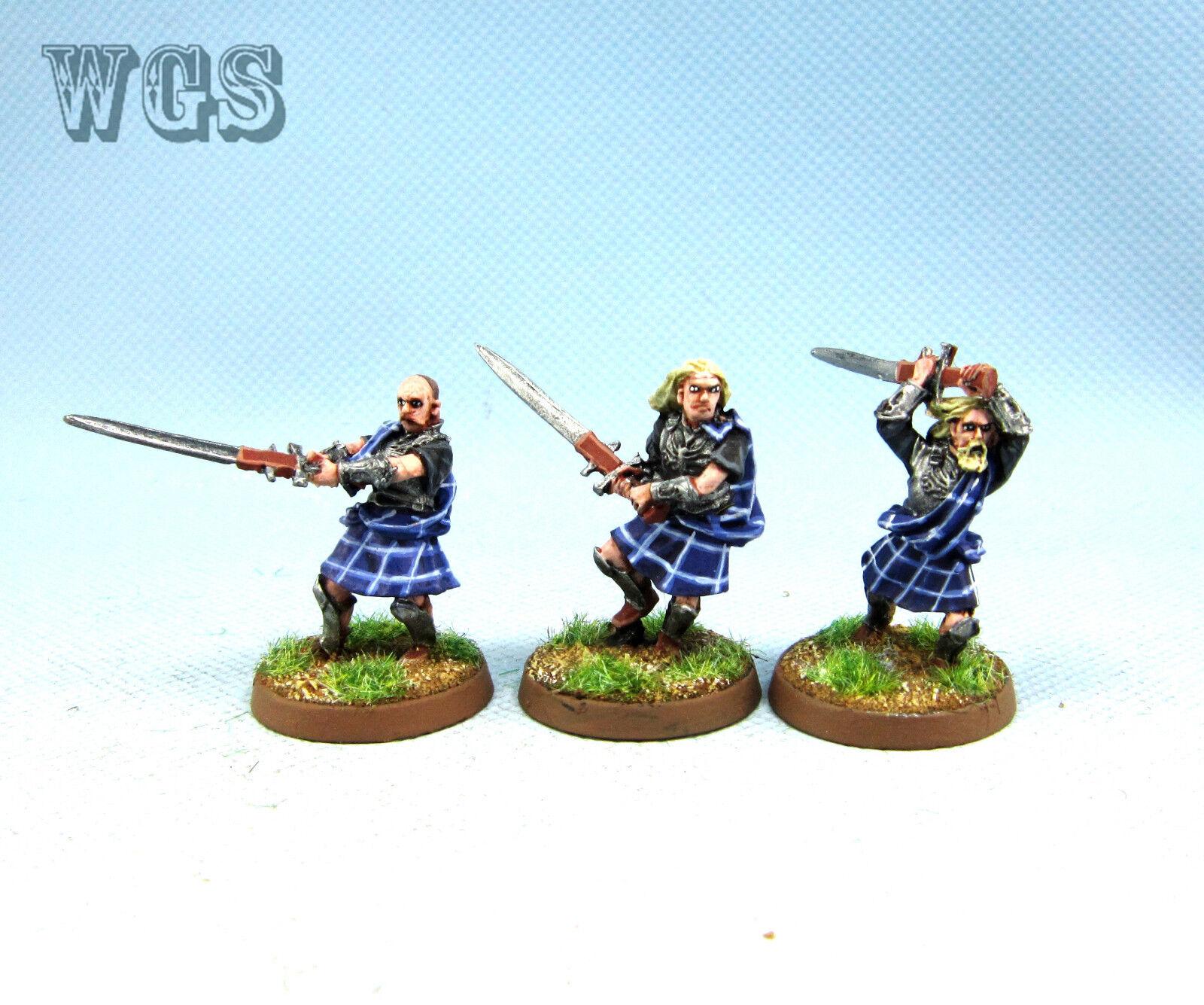 25mm Warhammer LOTR WGS painted Clansmen of Lamedon Lamedon Lamedon