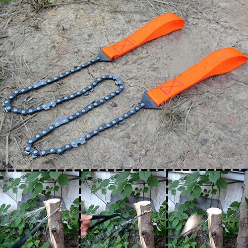 BG/_ EB/_ KF/_Survival Chain Saw Hand ChainSaw Emergency Pocket Gear Chic Camping T