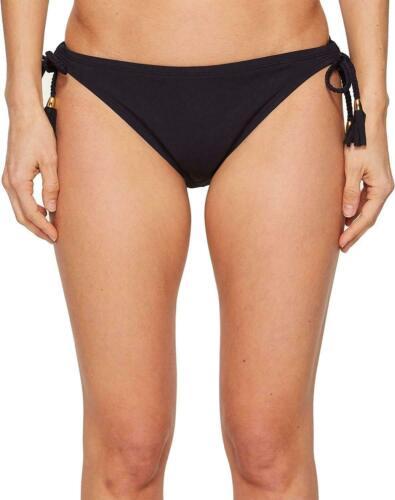 Bleu Rod Beattie 8107 Womens Black Bikini Bottom Side-Tied Swimwear Size 12