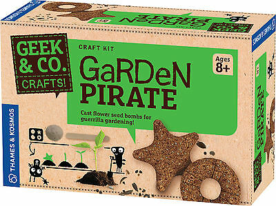 Garden Pirate Kids Craft Kit Flower Seed Bombs for Guerrilla Gardening Geek & Co