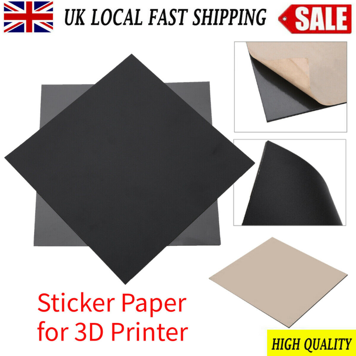 3D Printer Magnetic Stickers Print Bed Tape High Temperature Anti-Warping New