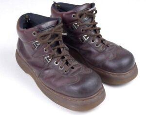 Details about Vintage 90s SKECHERS Boots Leather Espresso Lace Up Heavy Chunky Platform Sz 8.5