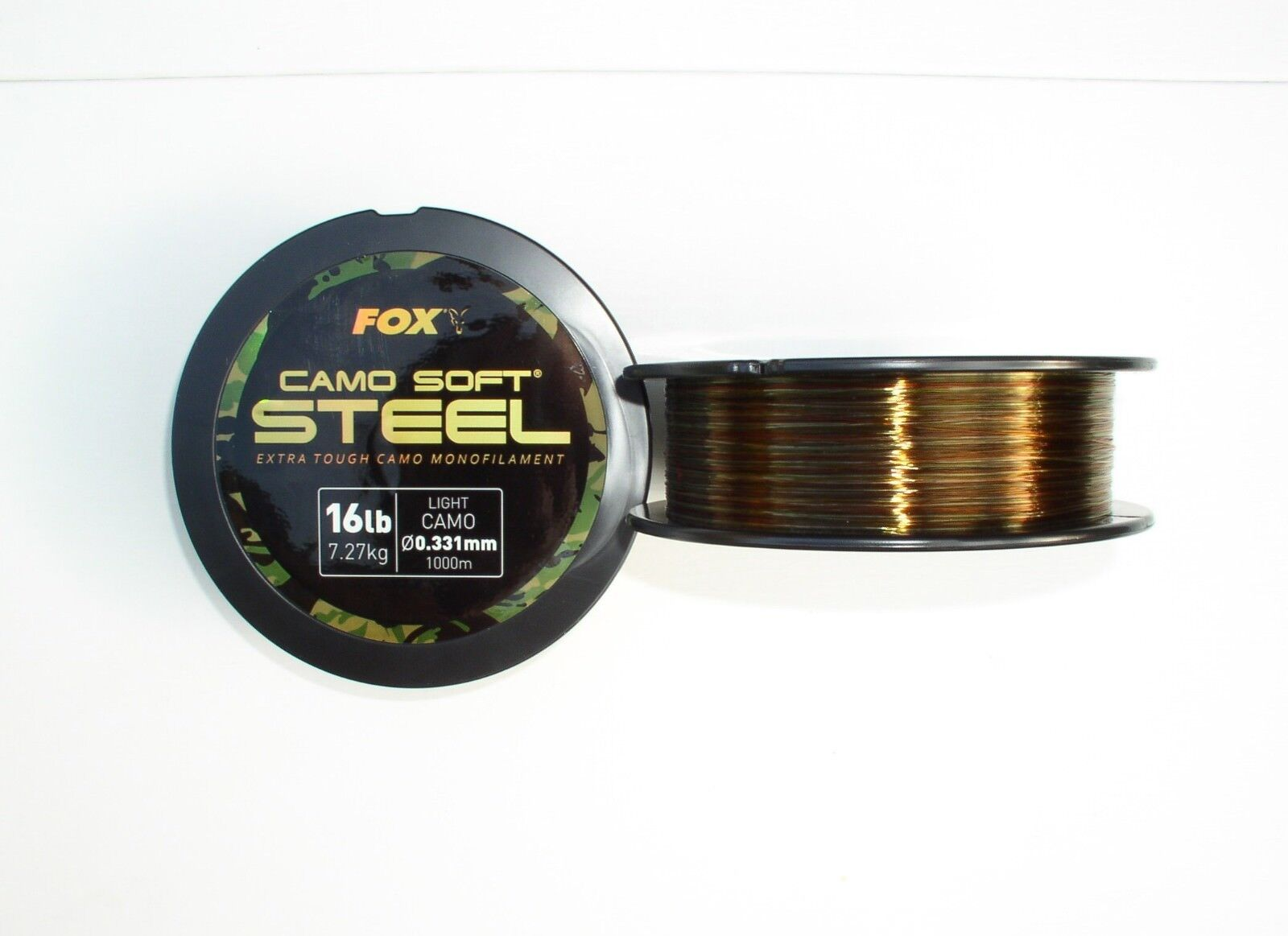 Fox monofile Schnur Camo Soft Steel - 0,35mm  18lbs, 1000 Meter Spule, Carp Line