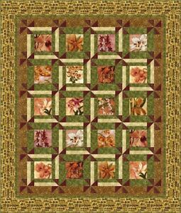 Kaufman-Catch-Me-Oriental-Traditions-Floral-Quilt-Fabric-Kit