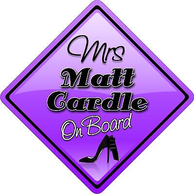 Mrs Gary Barlow Novelty Car sign like Baby on Board New