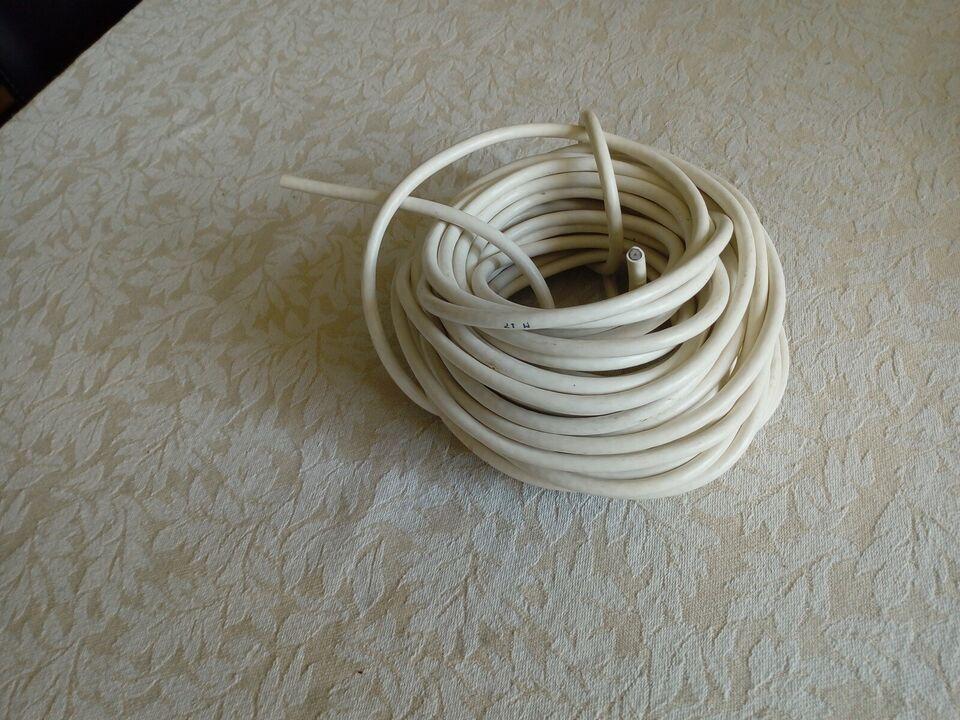 antenne kabel, hvid, 15,5 meter