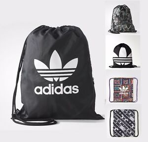 Image Is Loading Adidas Originals Gymsack Gym Shoe Bag Camo Black