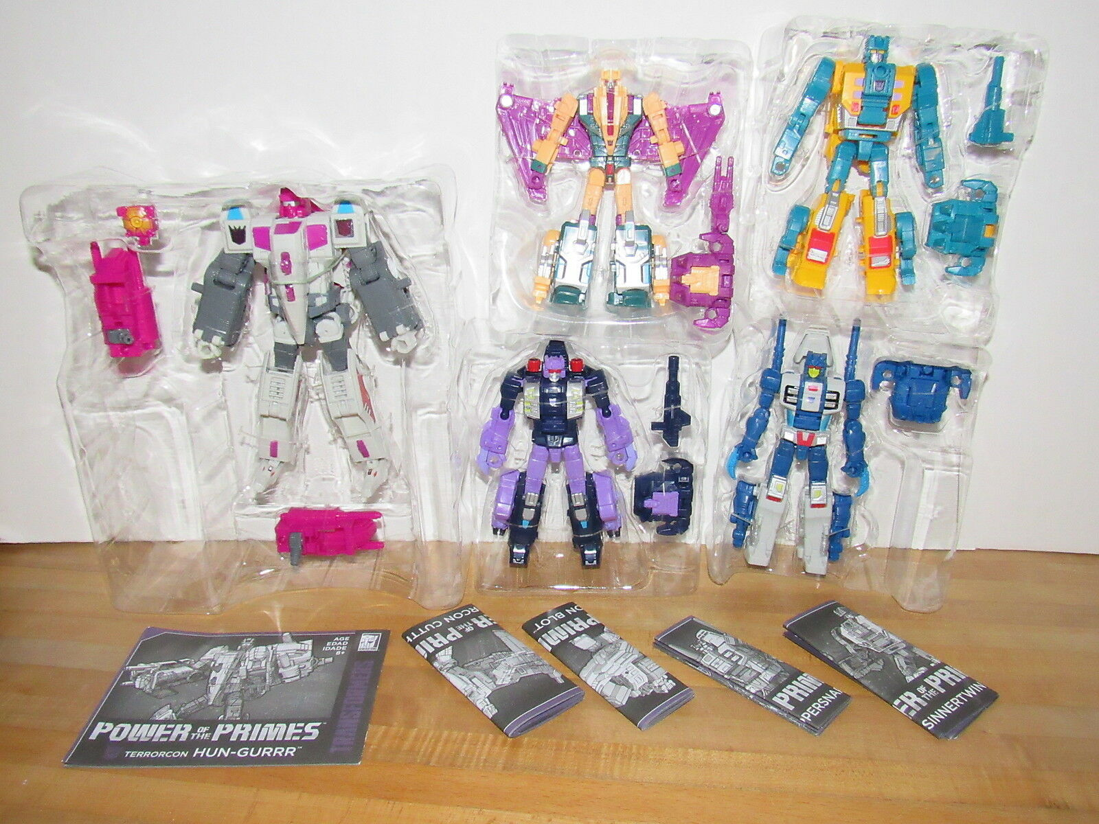 Transformers Power of the Primes Terrorcons Abominus Set of 5 blot hun-gurrr