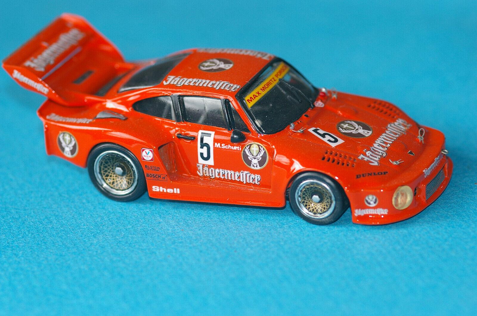 Porsche 935 Jagermeister #5 Zolder 1978 base Record  hand built  1/43°