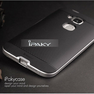 Ipaky Luxury Hard Bumper Soft Rubber Back Cover Case Shell For Huawei Ascend G8