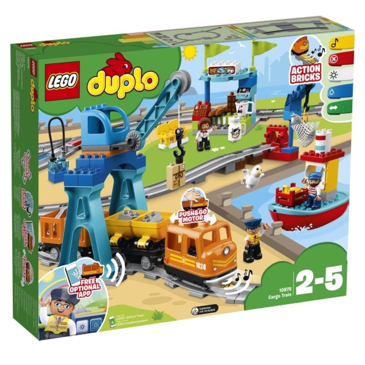 Lego Duplo Chemin Chemin Chemin de fer train de marchandises 10875 Nouveau neuf dans sa boîte 105731