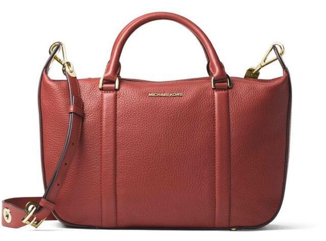 e3ea9edba368 Michael Kors Raven Brick Large Leather Satchel Handbag 30f6grxs2l ...