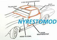 73 74 75 76 77 Corvette Weatherstrip Rubber Kit Doors T-tops Kit Etc