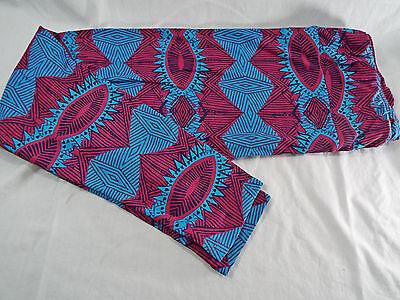 Cooperativa Donna Lularoe Tc Alto E Curvy Leggings Luminoso Blu Scuro Rosso Nero Nuovo